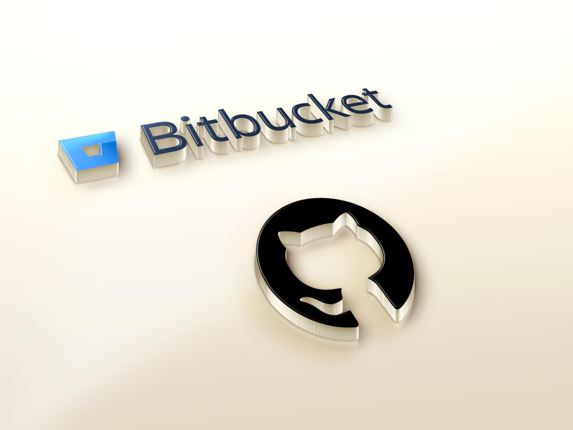 Github and Bitbucket Logos