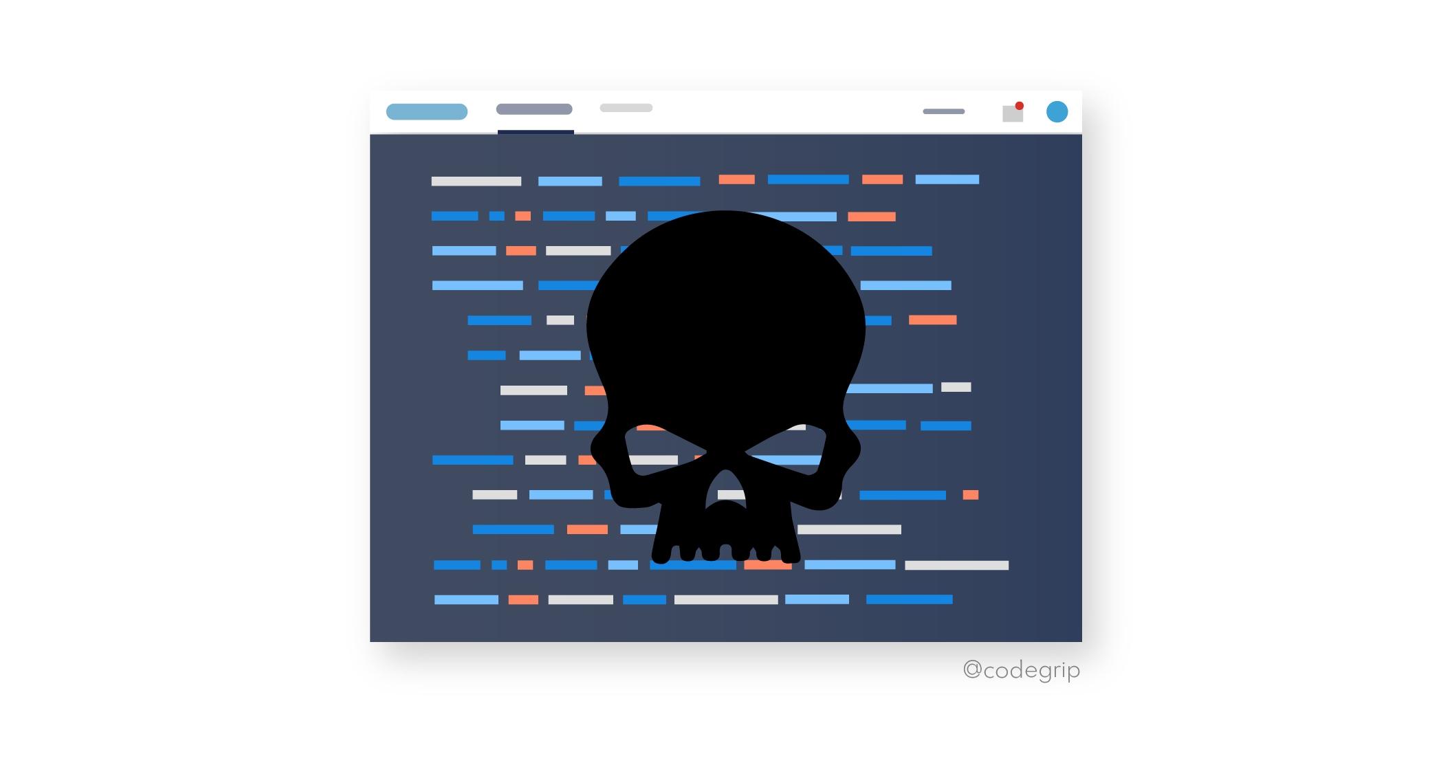 code having danger symbol on it