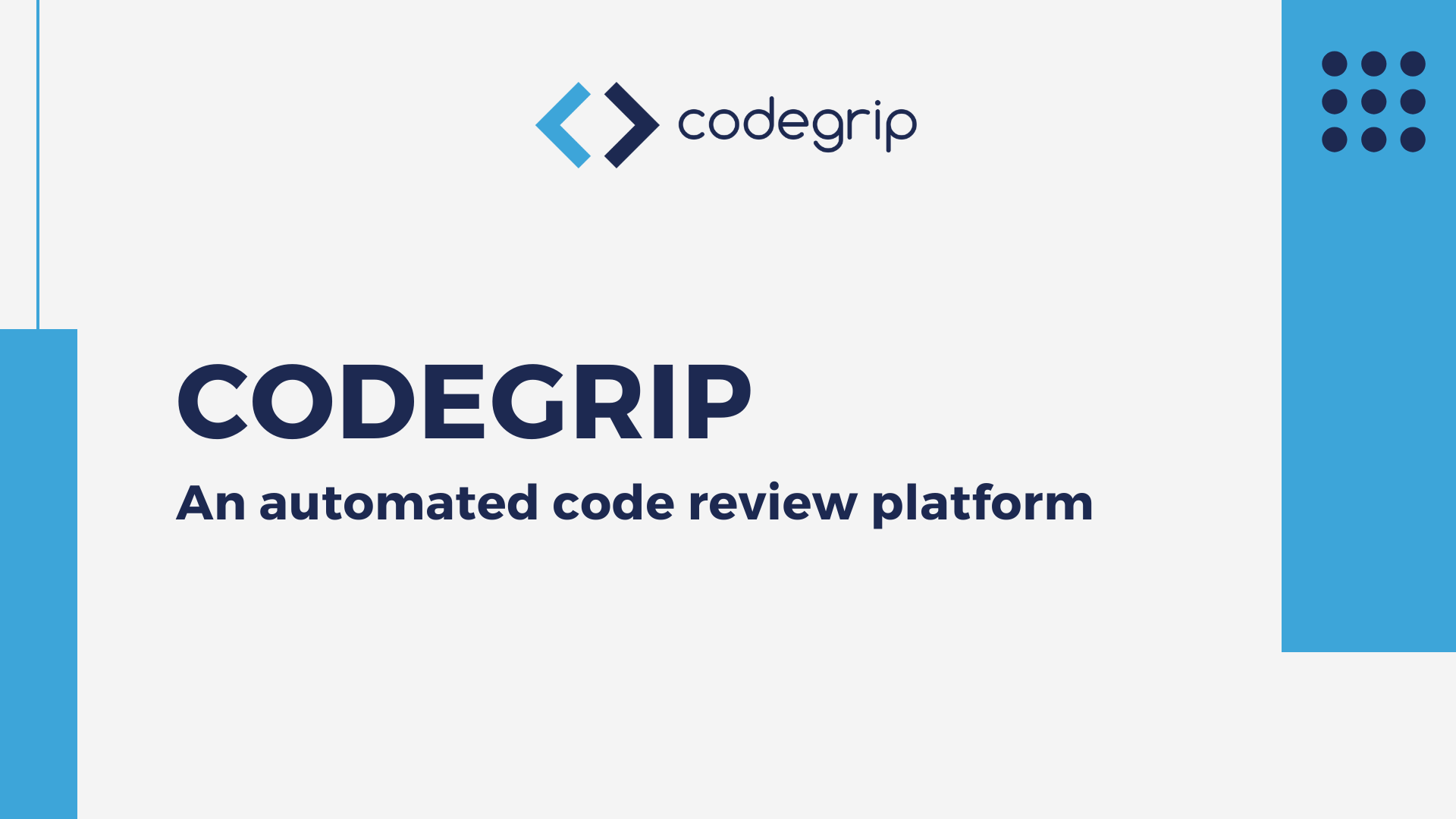 Codegrip-automated code review tool