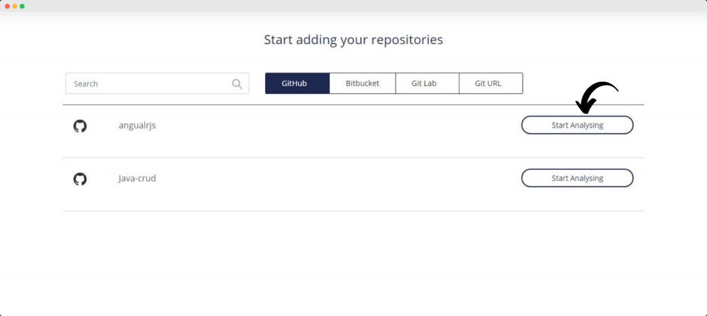 Codegrip - Start Analyzing