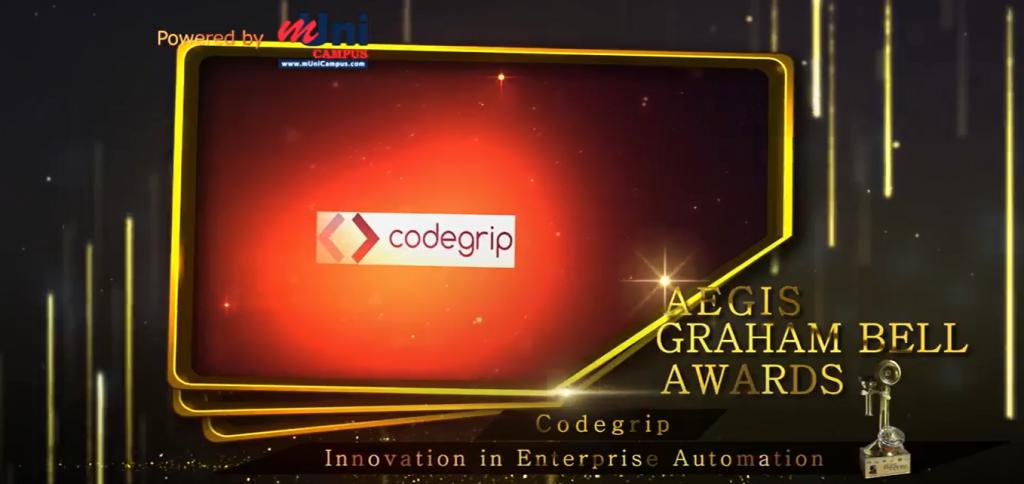 Aegis_Grahambell Award to Codegrip