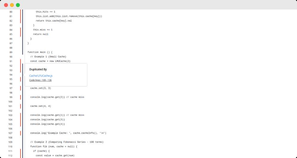 Codegrip JavaScript Duplication